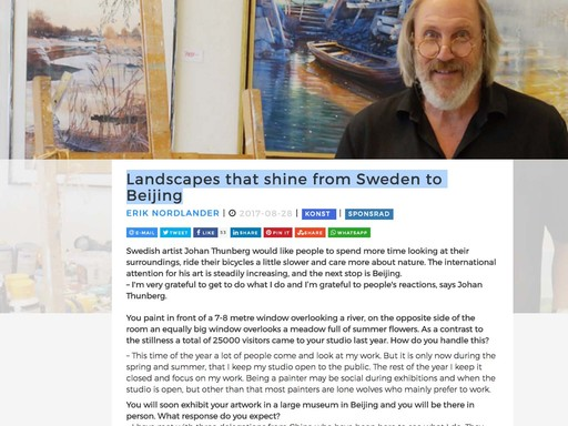Landscapes that shine from Sweden to Beijing